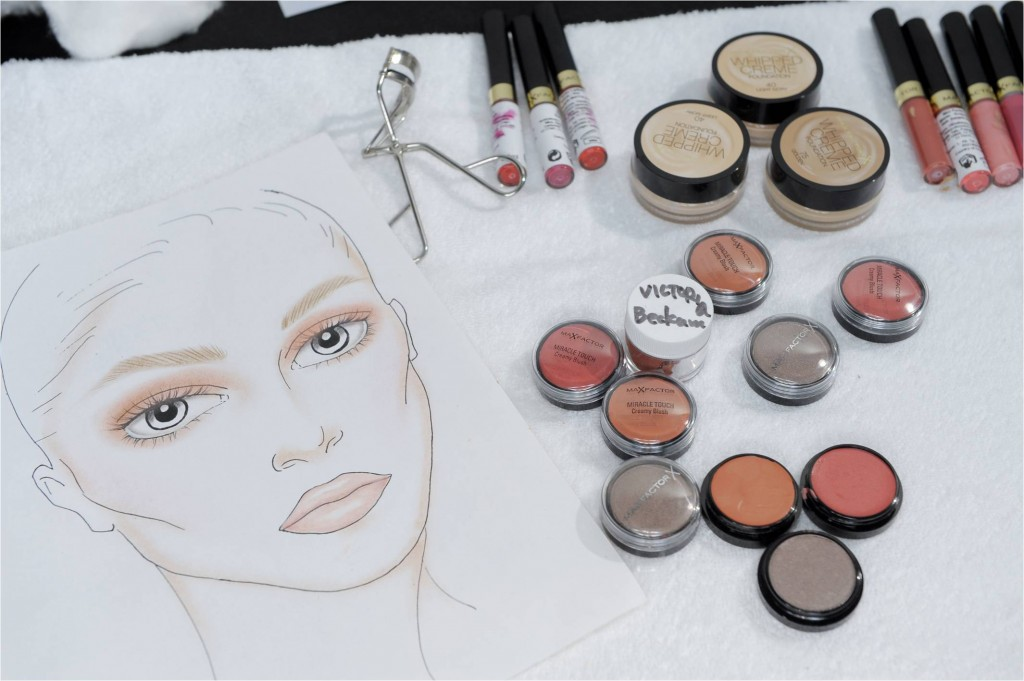 Max Factor Victoria Beckham SS14 Beauty - Facechart and Products