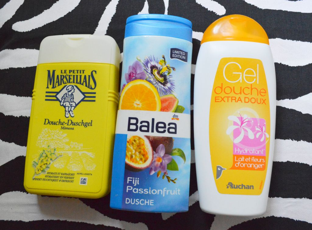 Empties - shower gels -August 2014