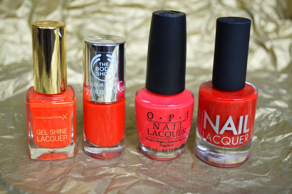 Battle of the reds - nail polishes