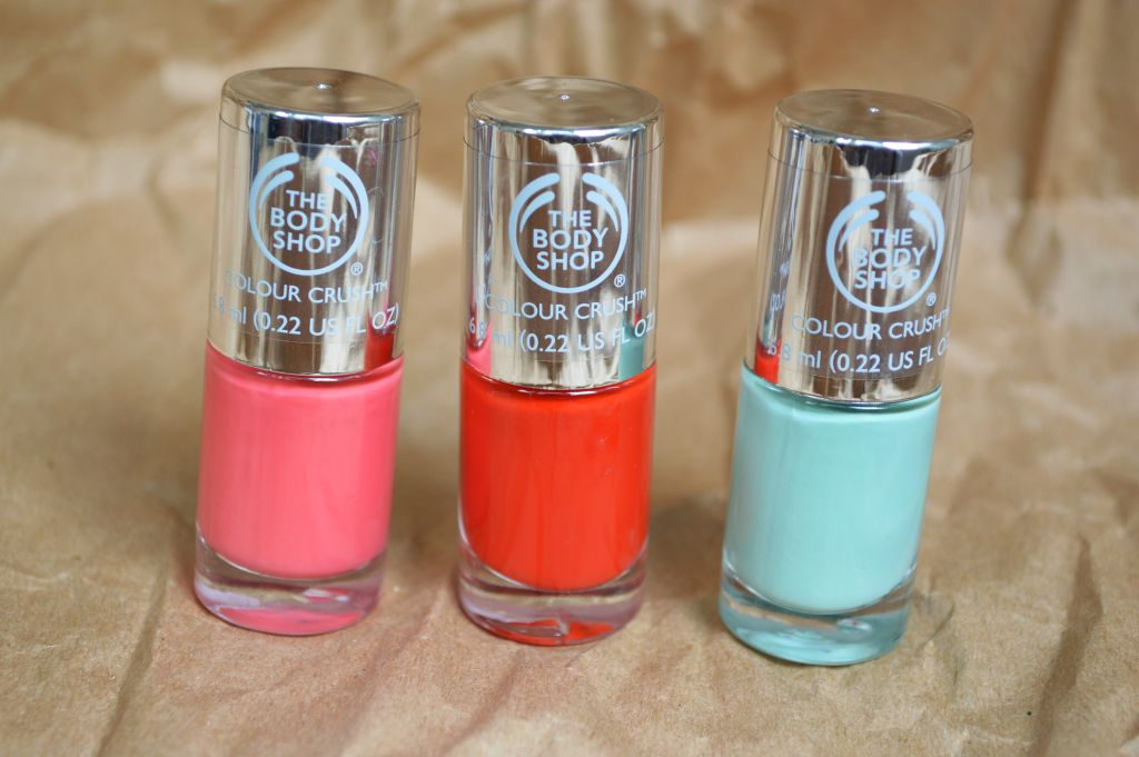 The Body Shop - Color Crush nail polishes