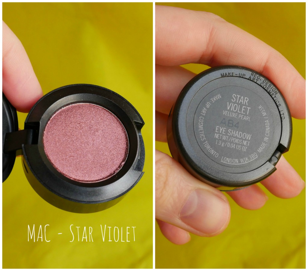 MAC Star Violet eye shadow swatch