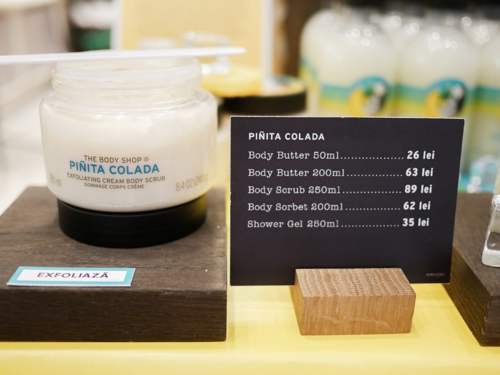TBS Pinita Colada Exfoliating cream body scrub