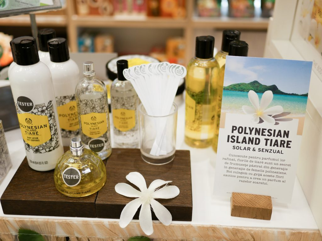 The Body Shop Polynesian Island Tiare gama Diana Rosu